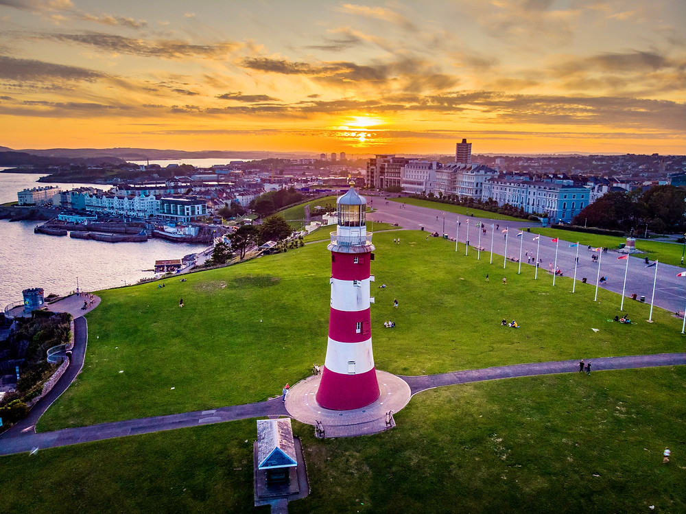 cityscape of Plymouth