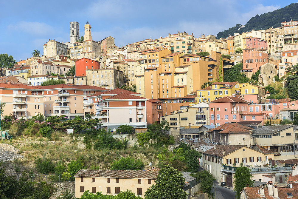 the town of Grasse on the French Riviera