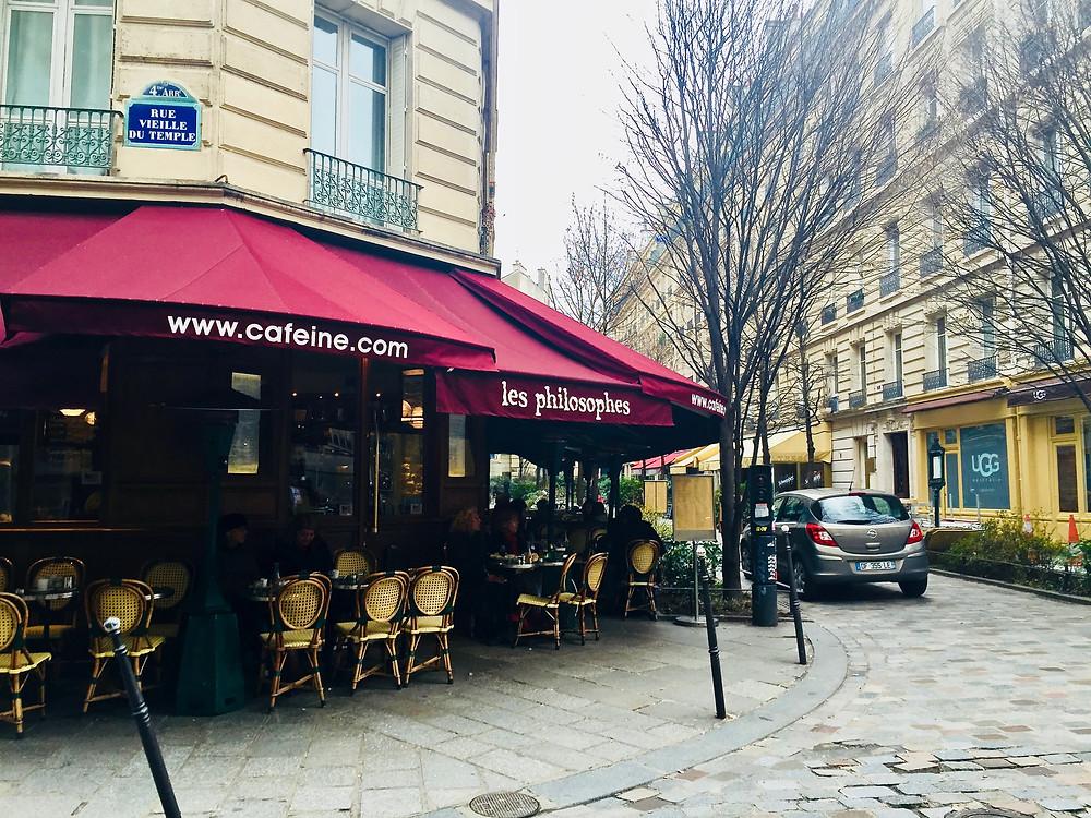 Les Philosophes in the Marais