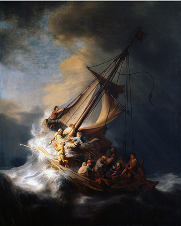 Rembrandt's only seascape, Christ in the Storm on the Sea of Galilee
