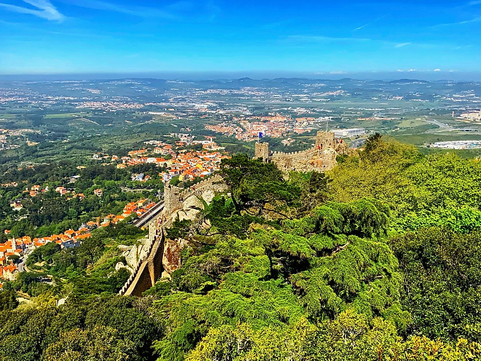 the Moorish Castle in Sintra Portugal