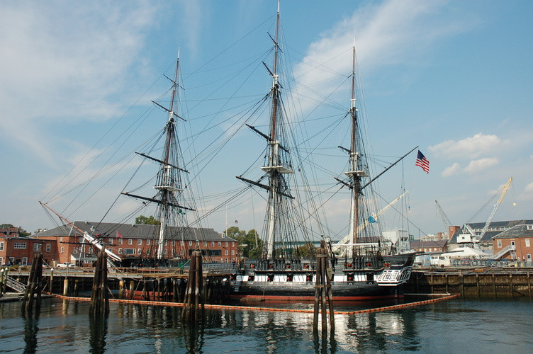 the USS Constitution in Charlestown Navy Yard on the Freedom Trail
