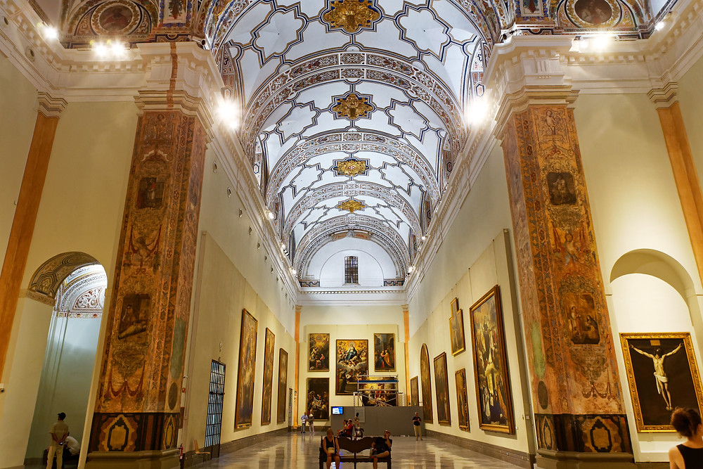 gorgeous gallery in the Seville Museum of Fine Arts