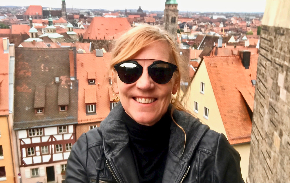me visiting Nuremberg Castle on a gloomy day, but I went back for the sunshine-y views later