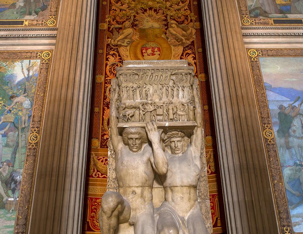 sculptural detail of the Pantheon interior