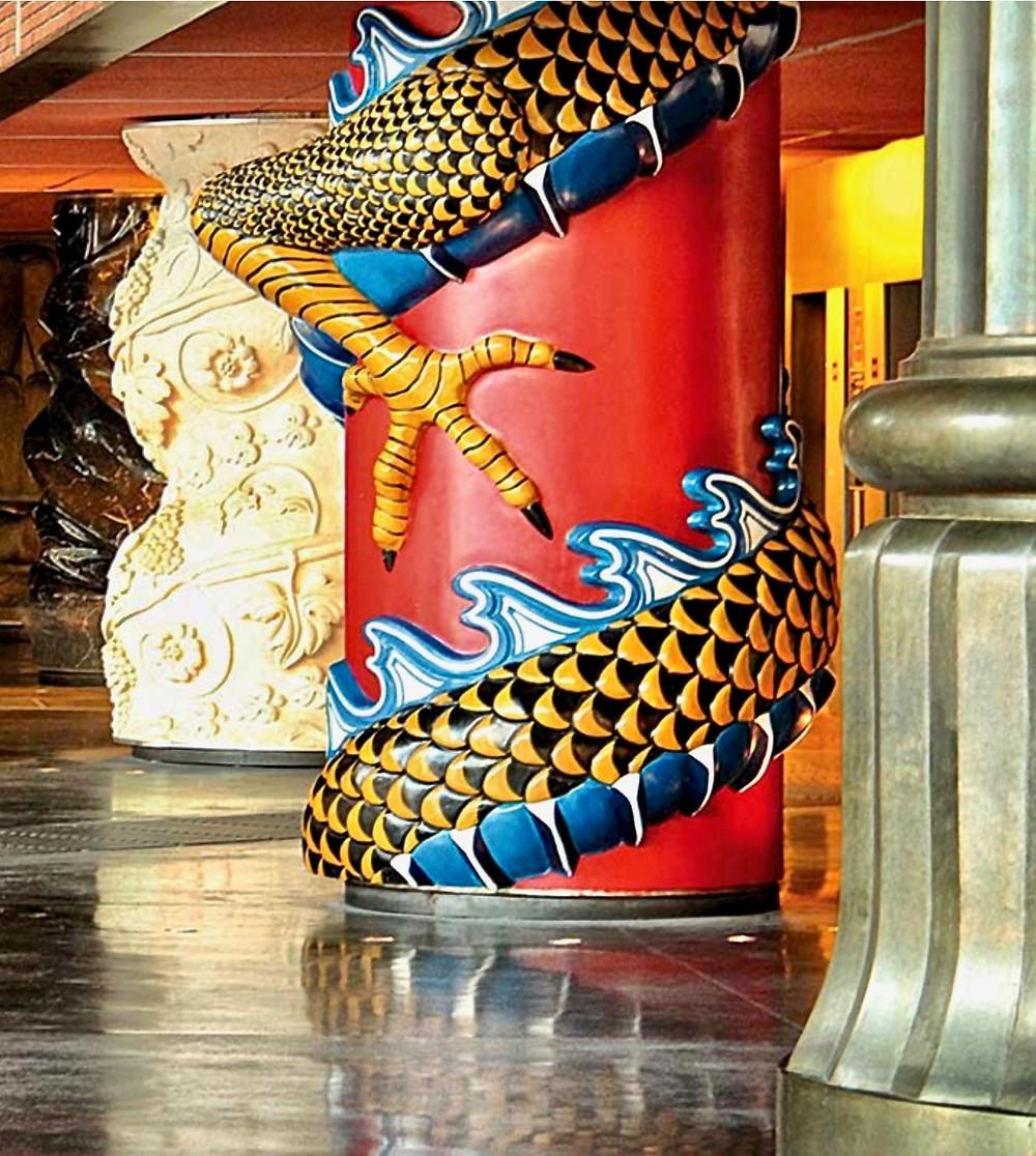 column in Azkuna Zentroa in Bilbao Spain