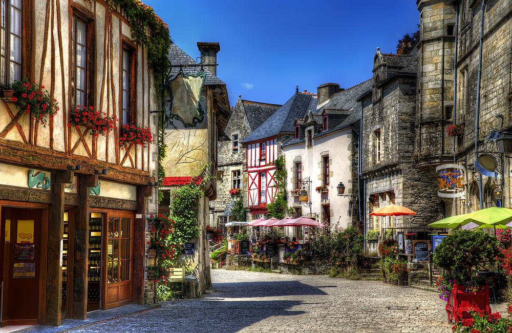 historic Rochefort-en-Terre in Brittany