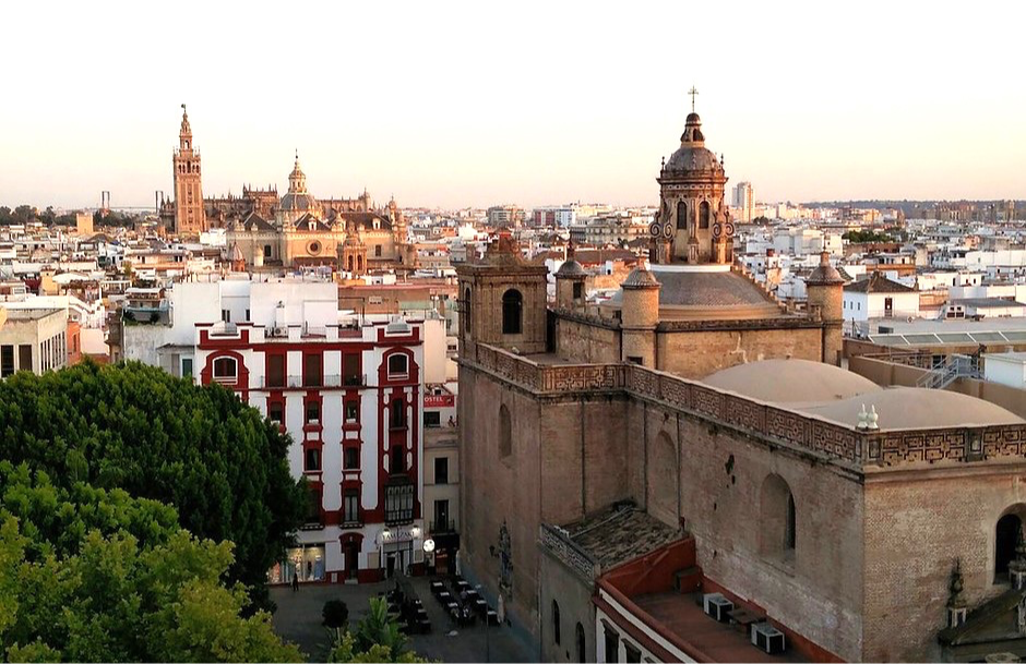 view from Las Setas over Seville