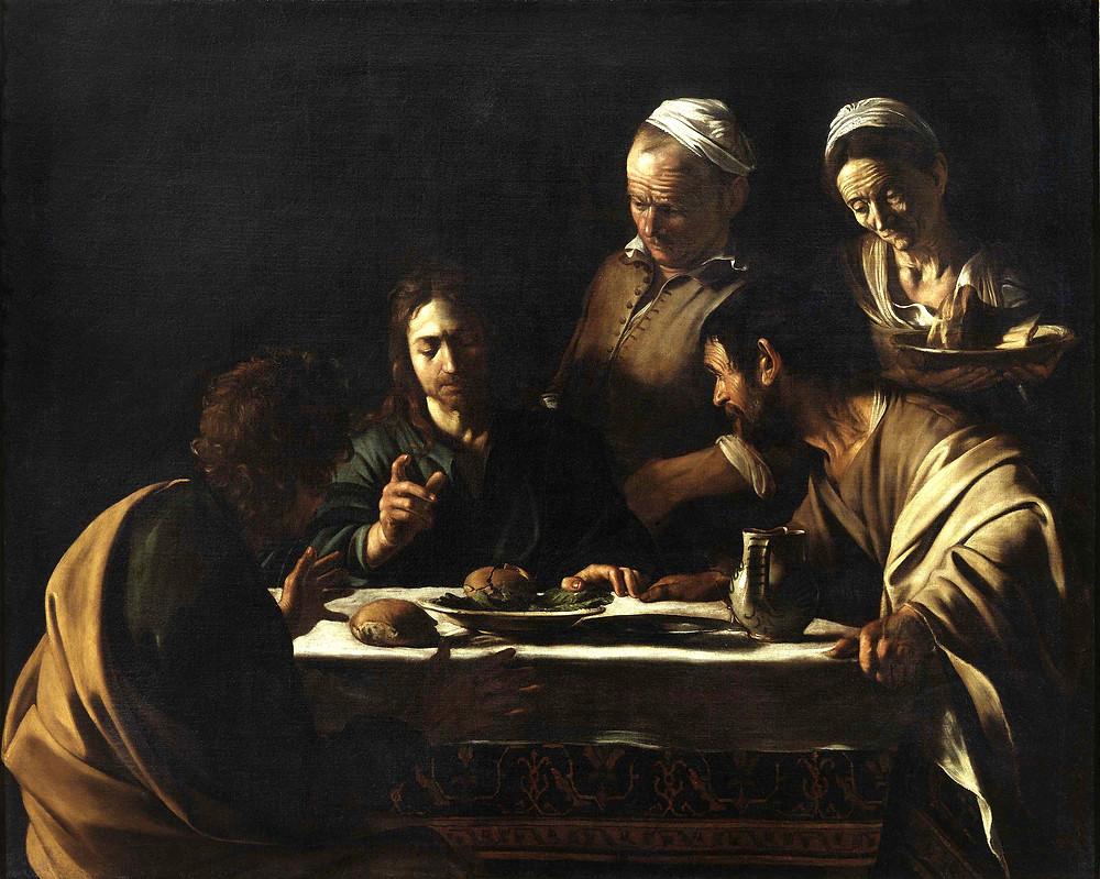 Caravaggio, Supper at Emmaus, 1606