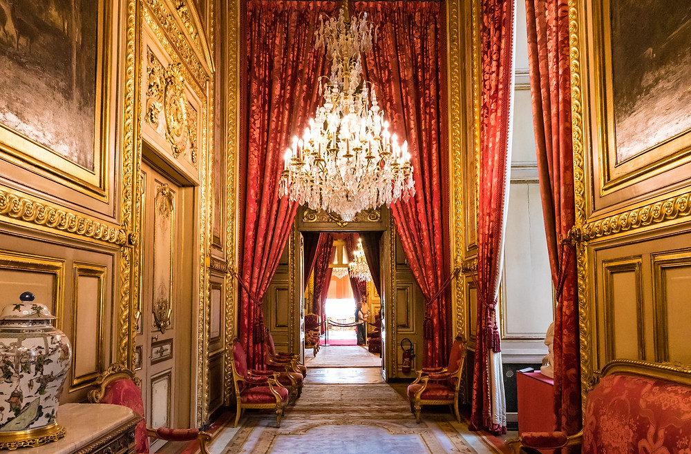 the Apartments of Napoleon III in the Richelieu Wing of the Louvre