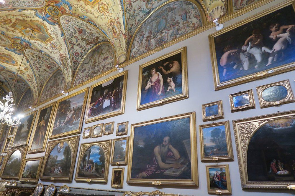 the Aldobrandini Gallery at the the Doria Pamphilj