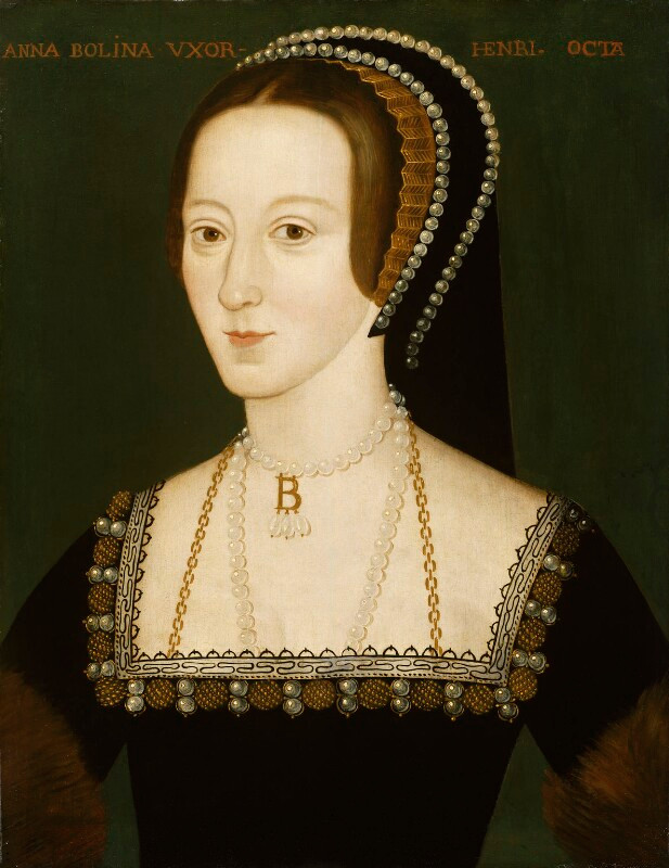 Queen Ann Boleyn, executed on the Tower Green in 1563