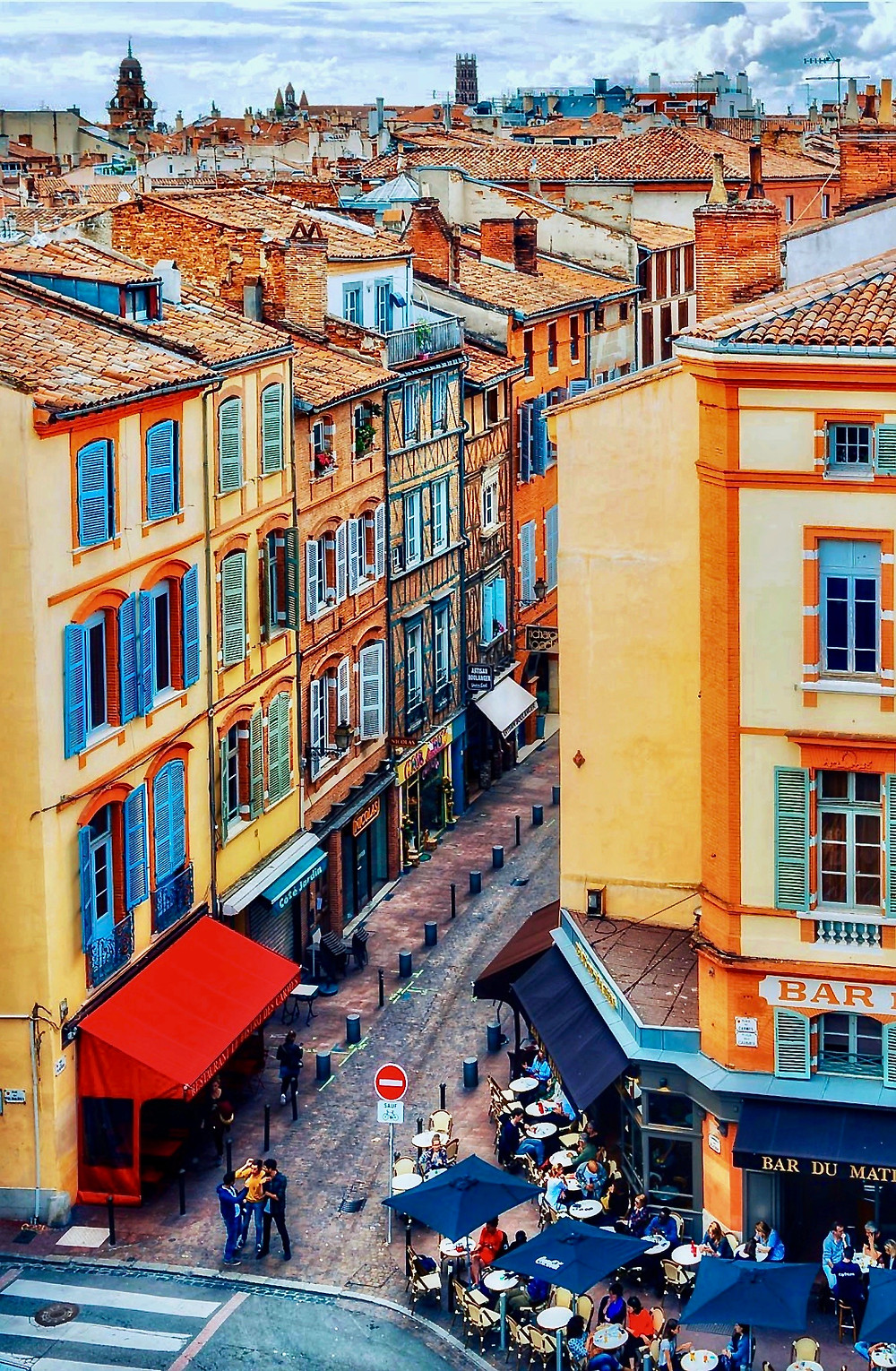 the Carmes neighborhood of Toulouse France