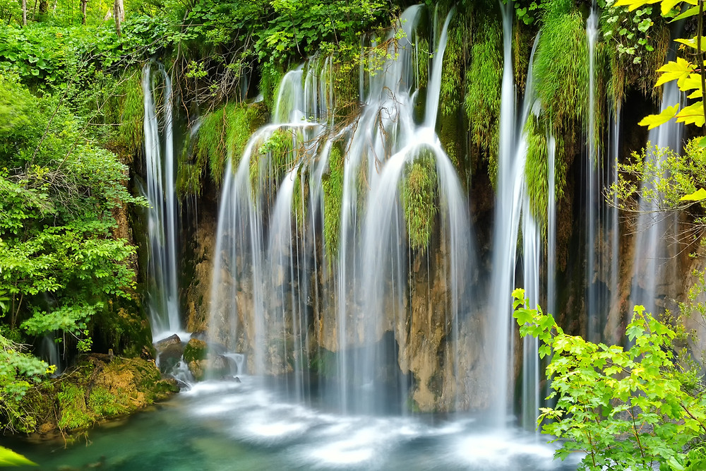 waterfalls on the upper lakes of Plitvice Lakes National Park