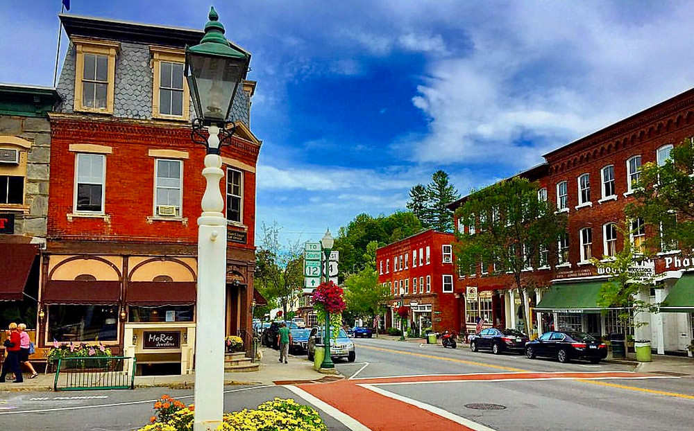 downtown Woodstock Vermont