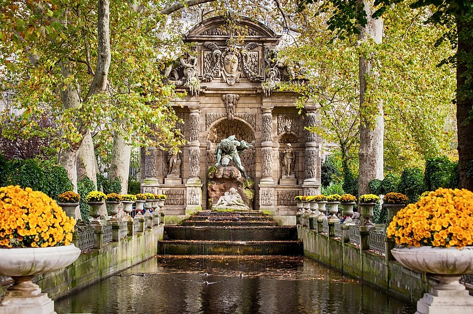 Marie de Medici Fountain in the Luxembourg Gardens