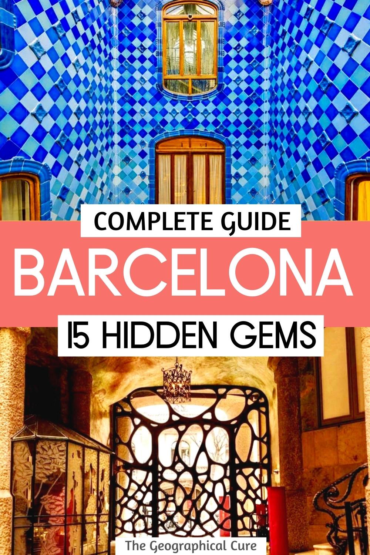 amazing hidden gems in Barcelona