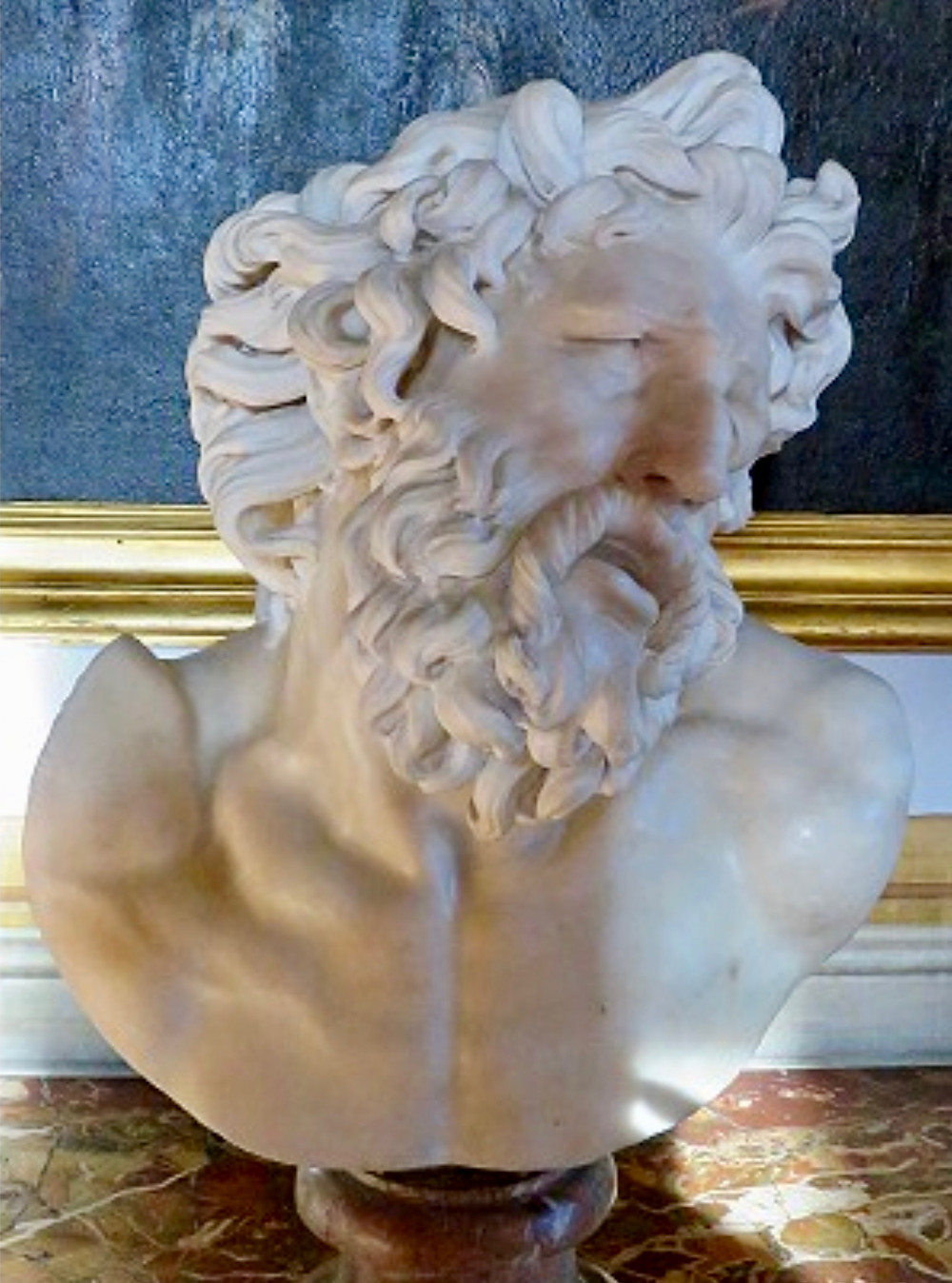 17th century marble bust after the Vatican's Laocoon, possibly by Bernini