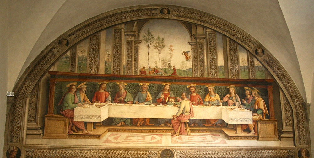 Perugino, The Last Supper, 1493-96 -- in Florence's Convent of the Tertiary Franciscans