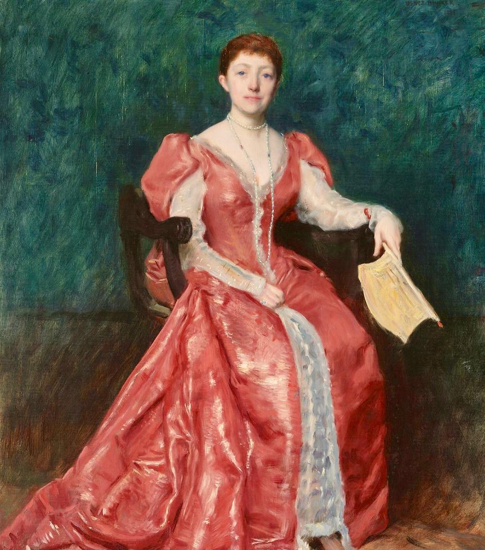 Dennis Miller Bunker, Portrait of Isabella Stewart Gardener, 1898