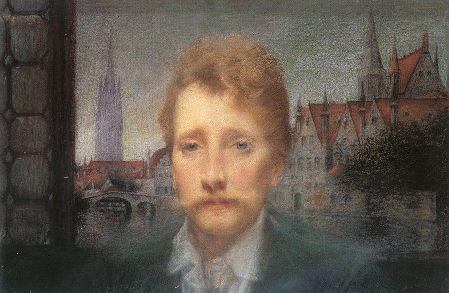 Lucien Lévy-Dhurmer, Portrait of Georges Rodenbach, 1895