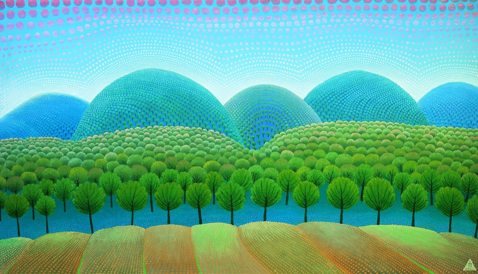 colorful painting in the Museum of Naive Art