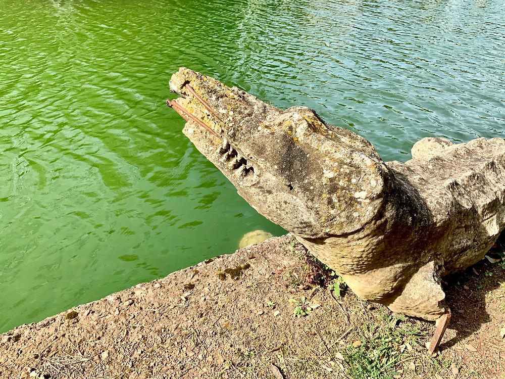 crocodile statue in the Canopus