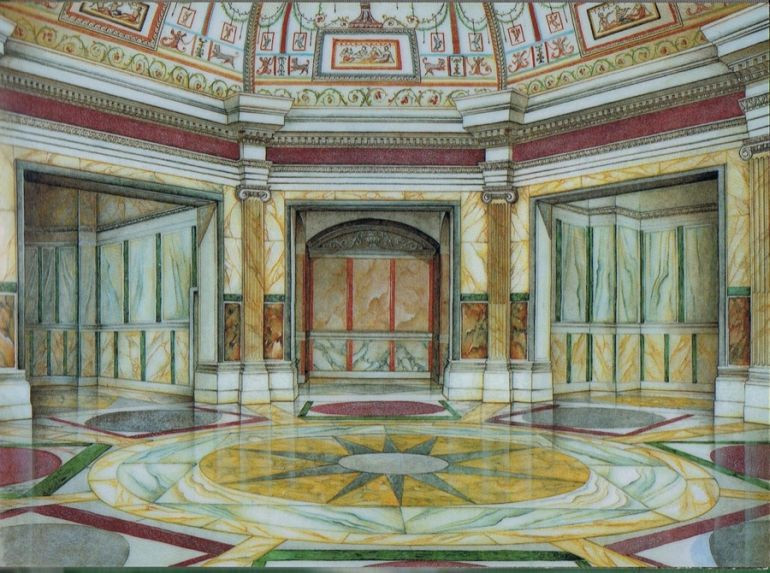 a reconstruction of what the Octagonal Room  might have looked like
