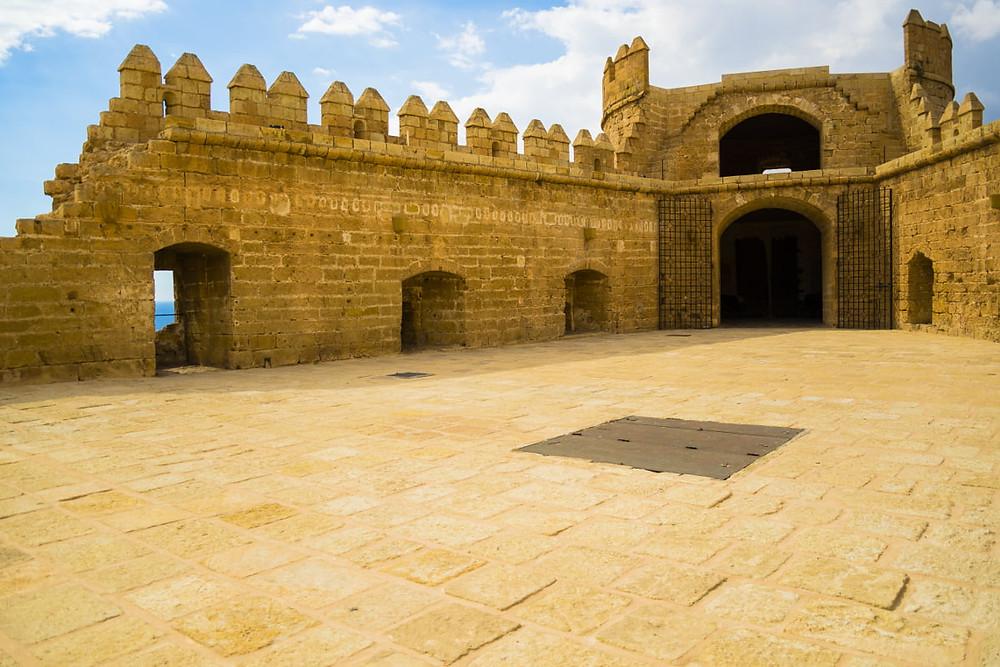 courtyard in the Almeria Alcazaba
