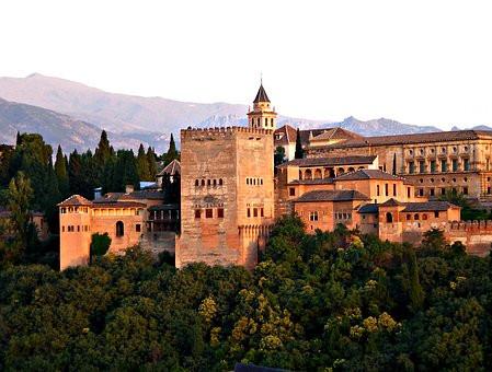 the Alhambra in Granada Spain