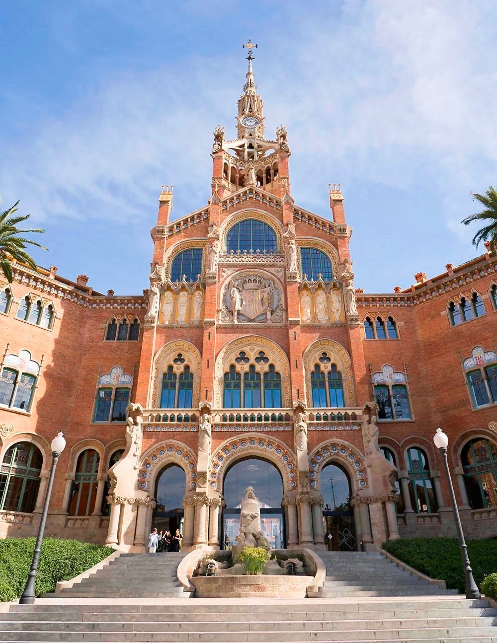 entrance to the Administrative Building at the Hospital de Sant Pau