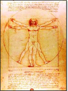 Leonard da Vinci, Vitruvian Man, 1487