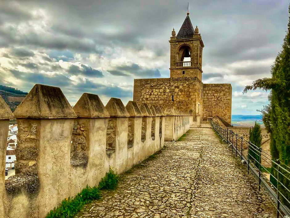 the Torre de Papabellotas, the bell tower of the Antequera Alcazaba