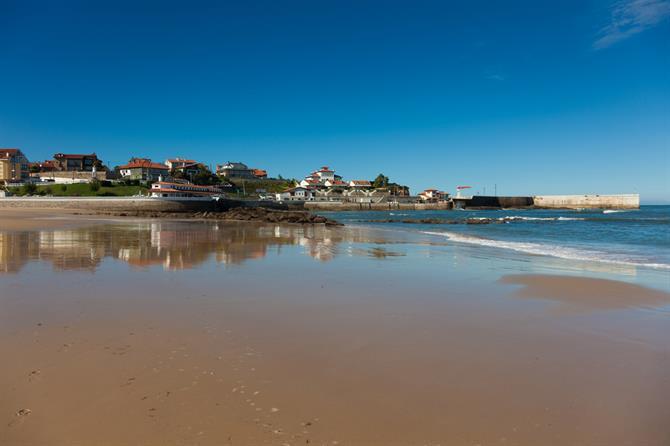 Comillas beach in Cantabria Spain
