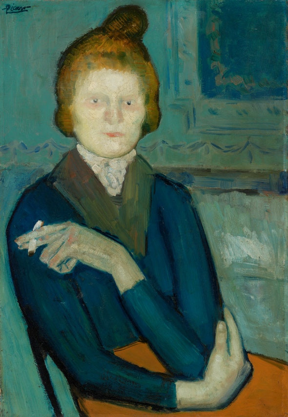 Picasso, Young Woman Holding a Cigarette, 1901
