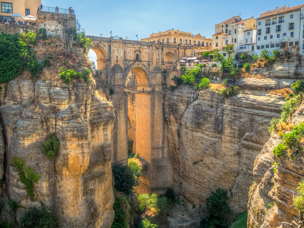the dramatic new Bridge of Ronda Spain