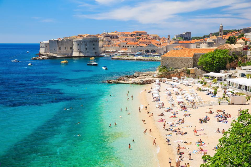Banje Beach in Dubrovnik