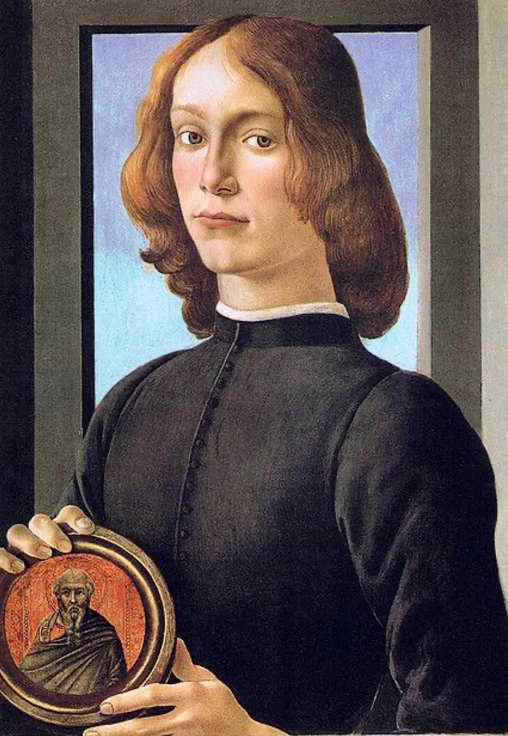 Botticelli, Man Holding a Roundel, late 1470s to early 1480s -- sold for $92 million in 2021