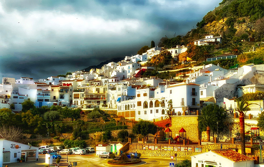 the cliffside village of Frigiliana Spain