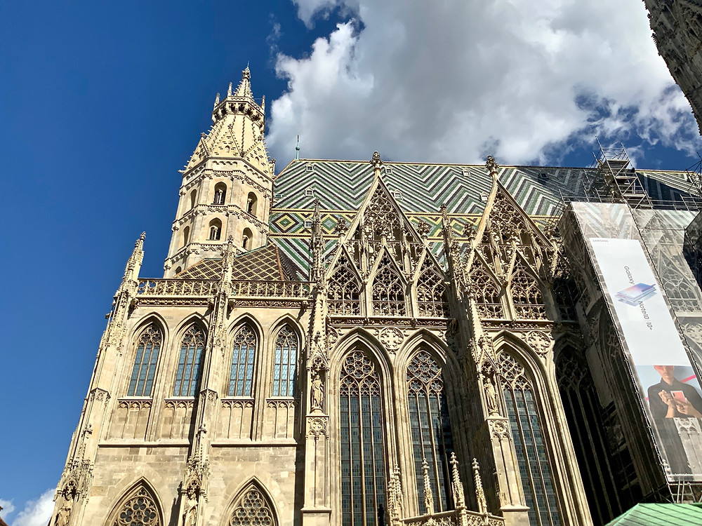 the flamboyant Gothic facade of St. Stephen's Cathedral