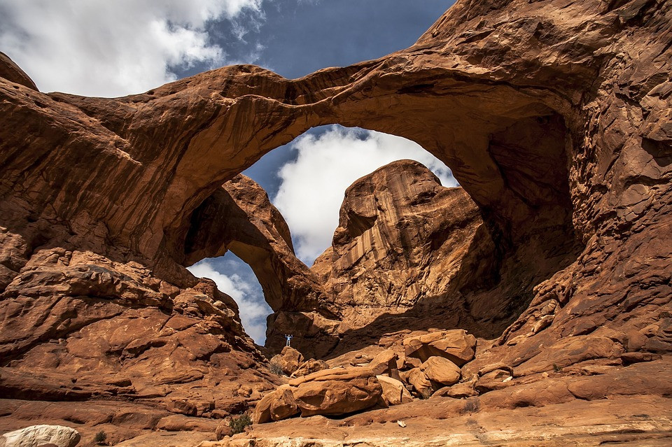 double arches in Arches National Park