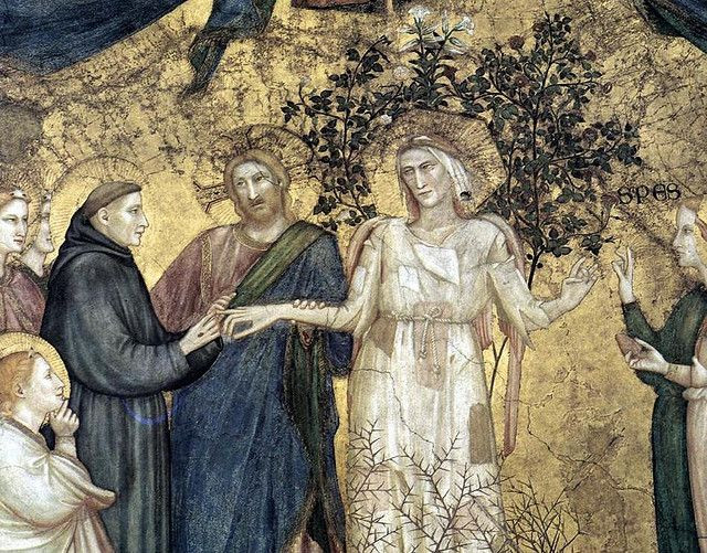 St. Francis depicting the saint marrying lady poverty, attributed to Giotto