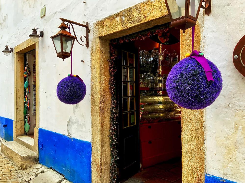 a beautiful little shop on Rue Direita in Óbidos