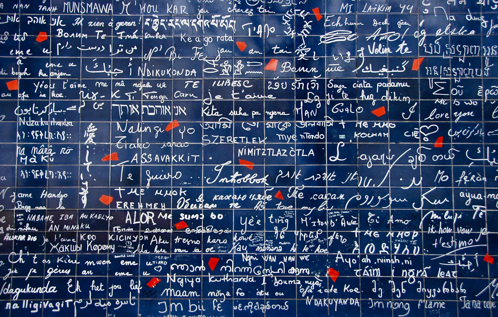 the Love Wall in Montmartre