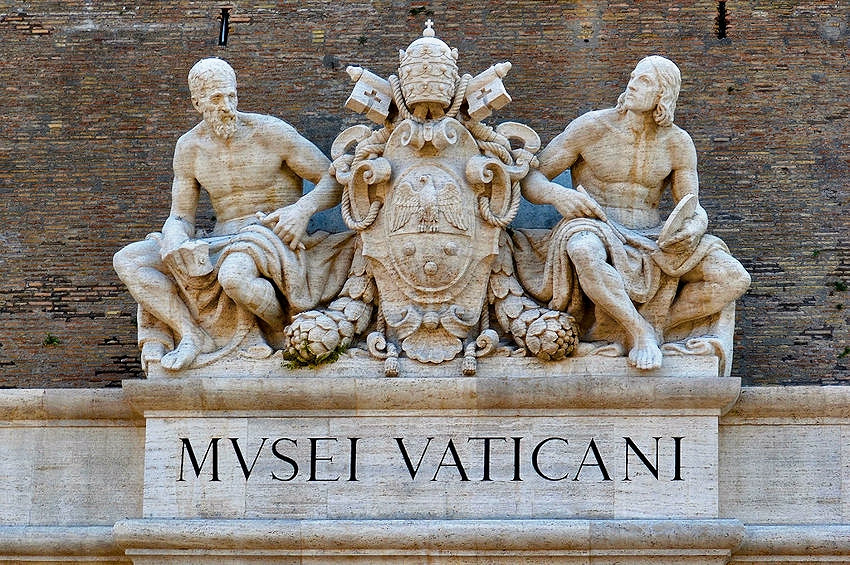 sign announcing you're at the Vatican Museums