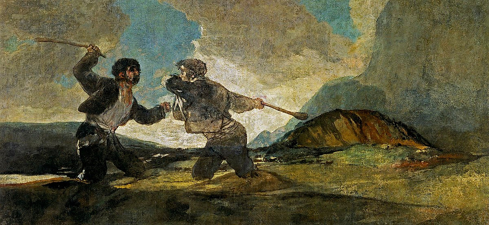 Fransisco Goya, Death With Cudgels, 1919-23