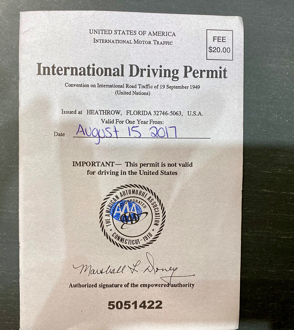 an international driver's license permit