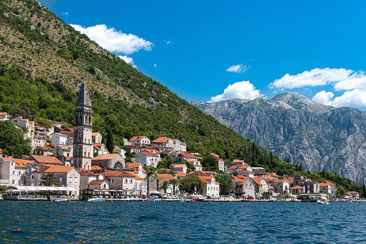 tiny Perast Montenegro on the Bay of Kotor