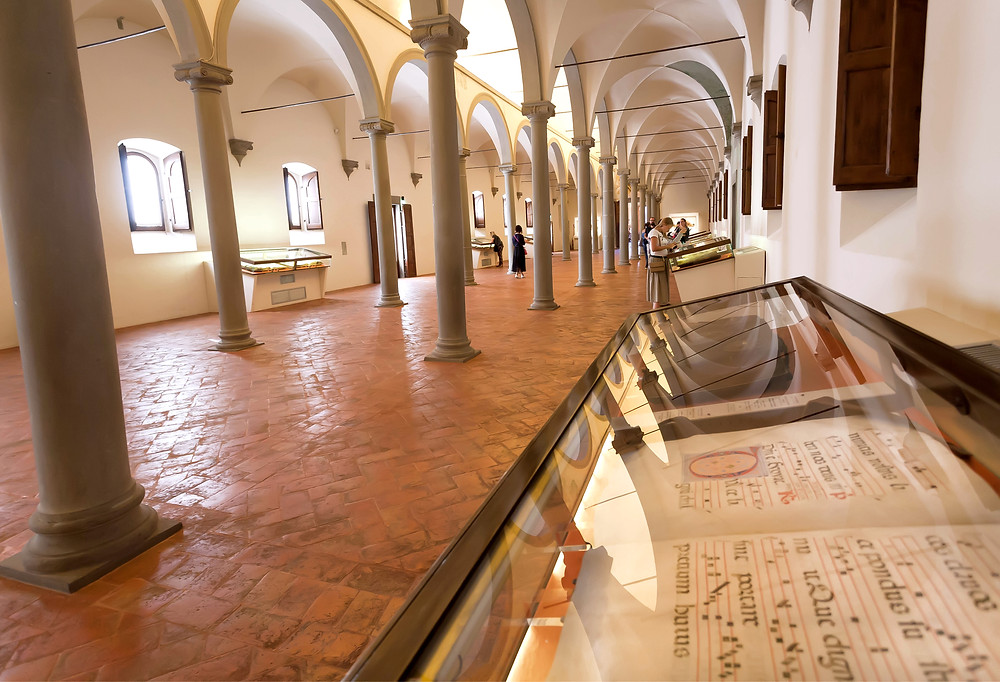 The Michelozzo Library, a beautiful section of the San Marco Monastery