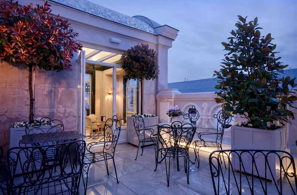 the pretty Heritage Madrid Hotel in Salamanca, with a Michelin restaurant and garden terrace